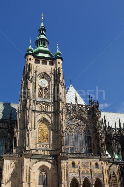 prague - st. vitus cathedral Stock photo © courtyardpix