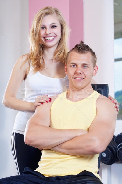 young couple in gym Stock photo © courtyardpix