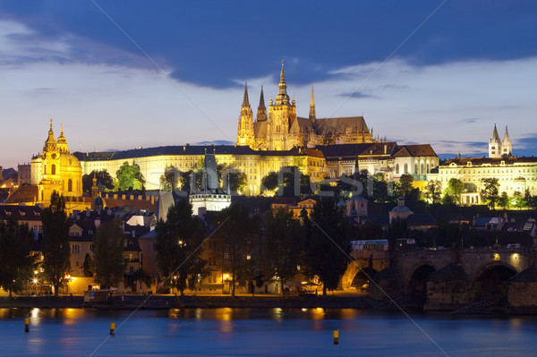 prague at dusk Stock photo © courtyardpix