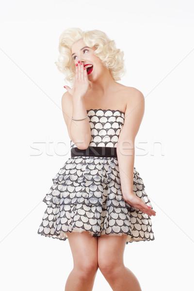 Portrait of Young Woman Yawning Stock photo © courtyardpix