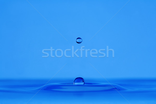 água gotículas azul superfície da água abstrato Foto stock © courtyardpix