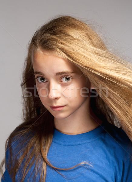 Portrait of a Beautiful Young Girl Stock photo © courtyardpix