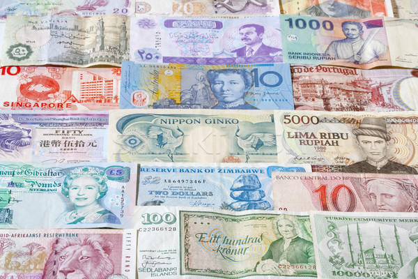 banknotes of different countries Stock photo © courtyardpix