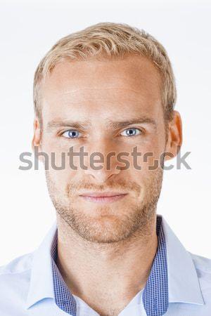 портрет молодым человеком волос изолированный белый Сток-фото © courtyardpix