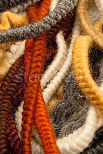 Hair Crepe Used for Making Beards and Moustaches. Stock photo © courtyardpix