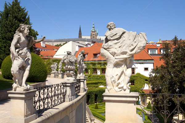 prague - vrtba garden and hradcany castle Stock photo © courtyardpix