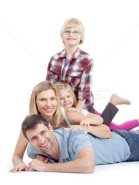 Család szórakozás boldog család felső egyéb boglya Stock fotó © courtyardpix