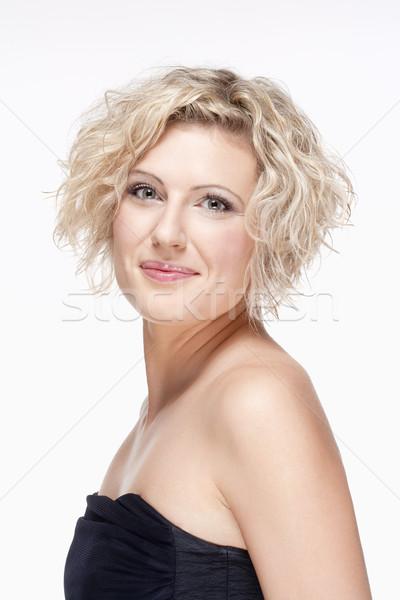 портрет опера певицы женщины изолированный белый Сток-фото © courtyardpix