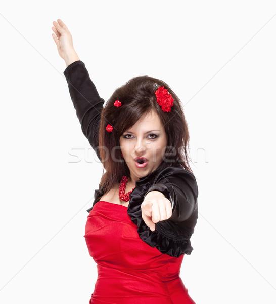 опера певицы этап платье изолированный Сток-фото © courtyardpix