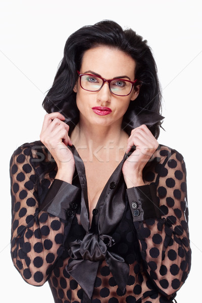 Woman with Black Hair and Glasses  Stock photo © courtyardpix