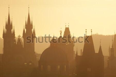Prague - Spires of the Old Town  Stock photo © courtyardpix