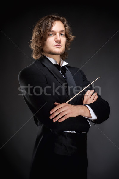 Portrait of a Young Conductor. Stock photo © courtyardpix