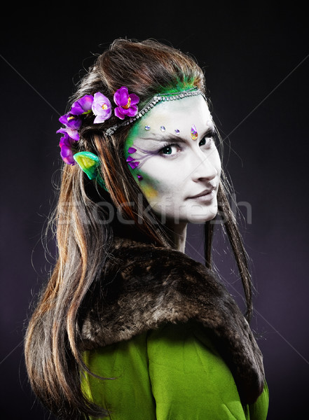 Portrait of a Beautiful Elf with Long Hair. Stock photo © courtyardpix