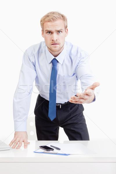 сердиться Boss за столе Постоянный Сток-фото © courtyardpix