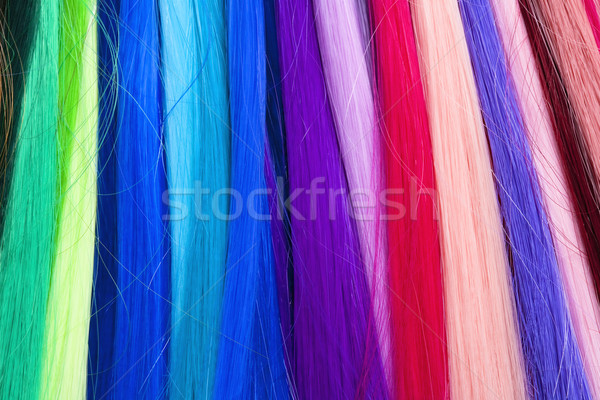 Artificial Hair Used for Production of Wigs  Stock photo © courtyardpix