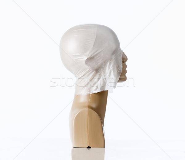 Maniquí cuero cabelludo cubierto plástico calvo cabeza Foto stock © courtyardpix
