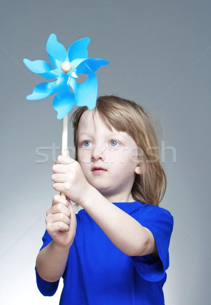 boy playing with pinwheel Stock photo © courtyardpix