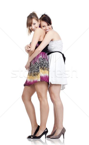 Stock fotó: Fiatal · nők · mosolyog · kettő · fiatal · gyönyörű · nők