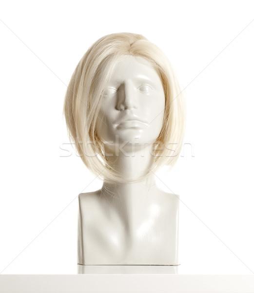 Manekin kobiet głowie peruka biały Zdjęcia stock © courtyardpix