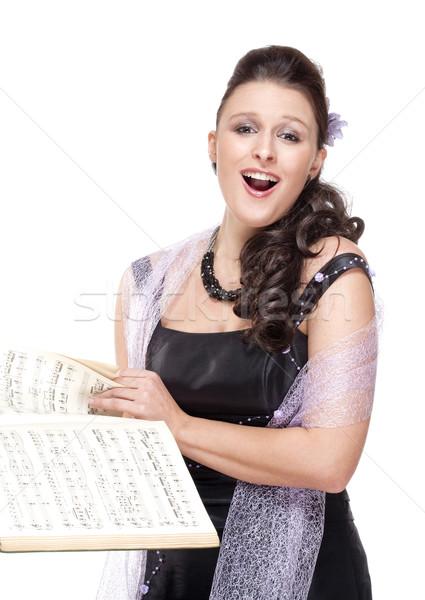 ópera cantora etapa vestir isolado branco Foto stock © courtyardpix