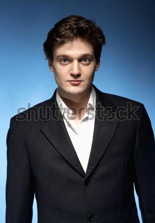 портрет молодым человеком костюм синий молодые Сток-фото © courtyardpix