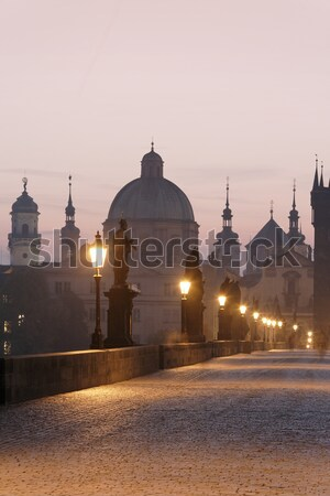 Stock photo: charles bridge, towers of the old town