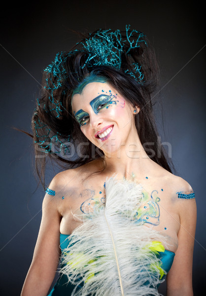 Portrait of a Beautiful Fantasy Woman. Stock photo © courtyardpix