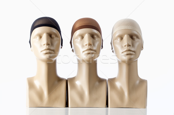 Three Mannequin Heads for Wigmaking  Stock photo © courtyardpix