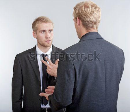 two businessmen discussing Stock photo © courtyardpix