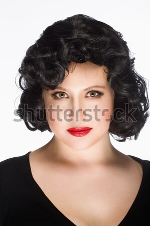 Young Woman with Black Wig. Stock photo © courtyardpix