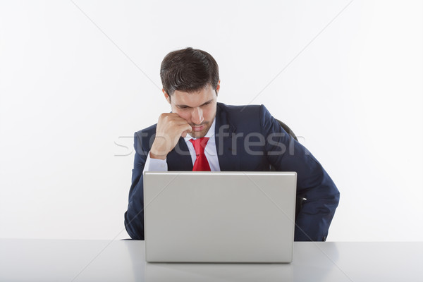 businessman with laptop Stock photo © courtyardpix