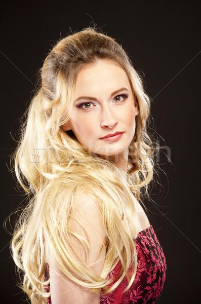 Young Beautiful Woman with Long Blond Hair. Stock photo © courtyardpix