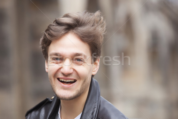 Portrait of a Young Man with Brown Hair  Stock photo © courtyardpix