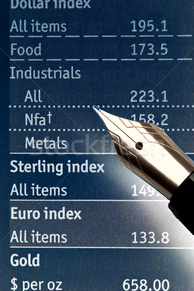Toll táblázatok extrém közelkép töltőtoll pénzügy Stock fotó © courtyardpix