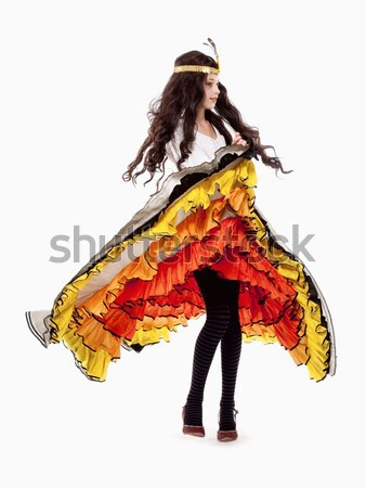 女の子 ポーズ 少女 カラフル スカート 音楽 ストックフォト © courtyardpix