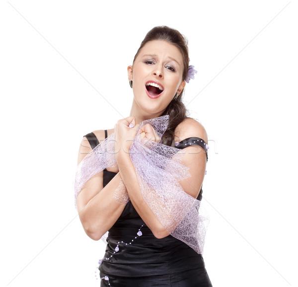 ópera cantora etapa vestir isolado Foto stock © courtyardpix