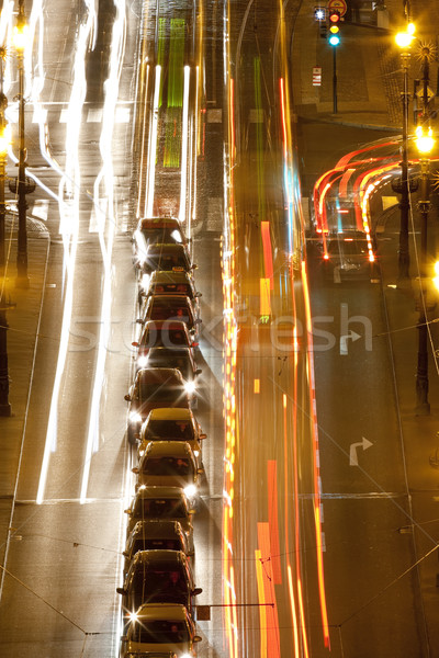 prague -traffic on bridge Stock photo © courtyardpix