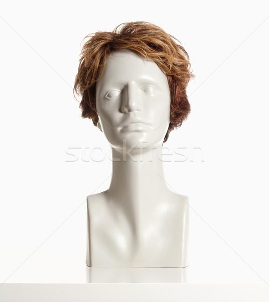 マネキン 女性 頭 かつら 白 ストックフォト © courtyardpix
