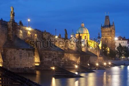 Köprü towers gökyüzü sanat kilise Stok fotoğraf © courtyardpix