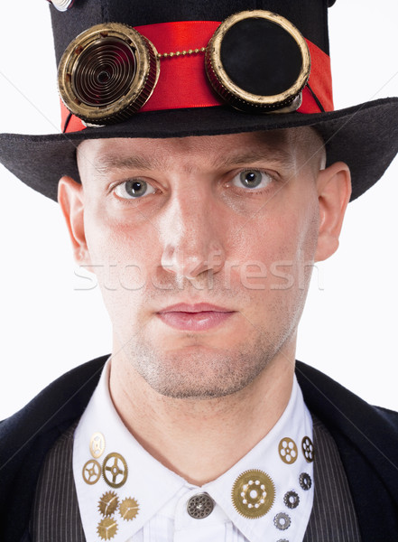 Portrait of a Magician with High Hat and Clock Parts Details Stock photo © courtyardpix