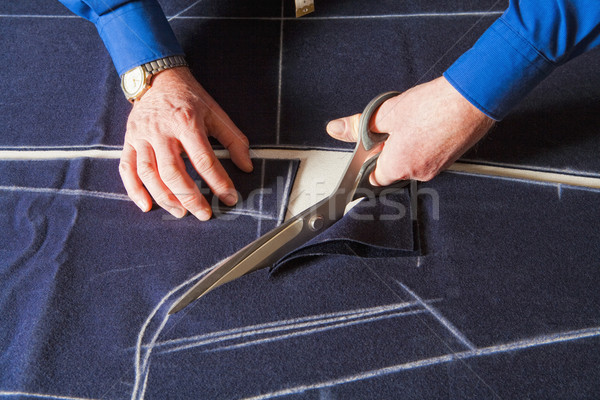 Sastre tejido tijeras nuevos abrigo Foto stock © courtyardpix