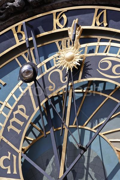 Dettaglio astronomico clock Praga città vecchia sala Foto d'archivio © courtyardpix