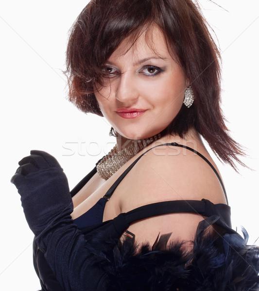 портрет опера певицы этап платье изолированный Сток-фото © courtyardpix