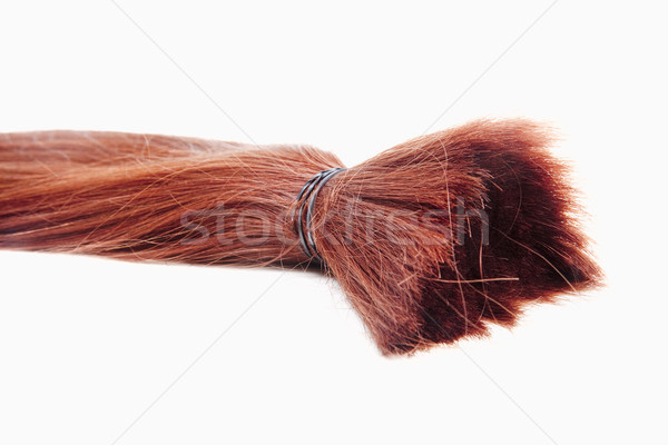 Igazi emberi haj használt gyártás Stock fotó © courtyardpix