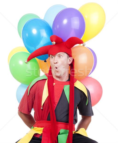 jester with balloons Stock photo © courtyardpix