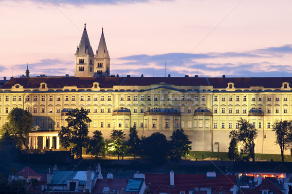 prague hradcany castle Stock photo © courtyardpix