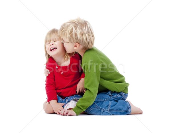 brother and sister having fun Stock photo © courtyardpix