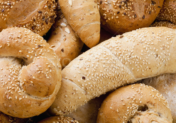 Different Breads and Rolls from Bakery Stock photo © courtyardpix