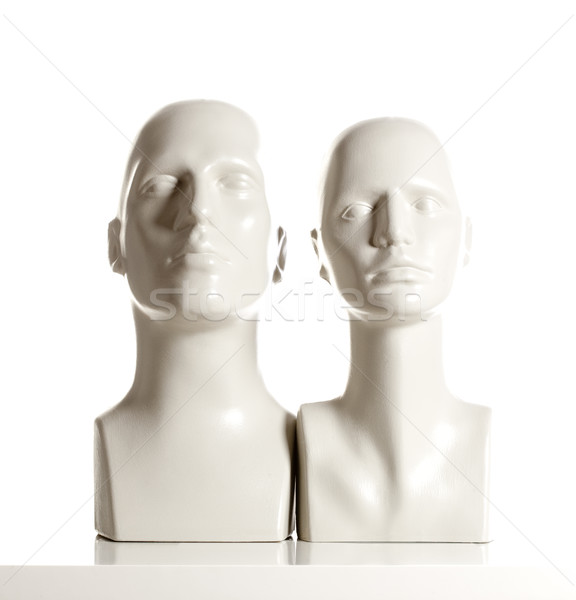 Male and Female Mannequin Heads on White Stock photo © courtyardpix