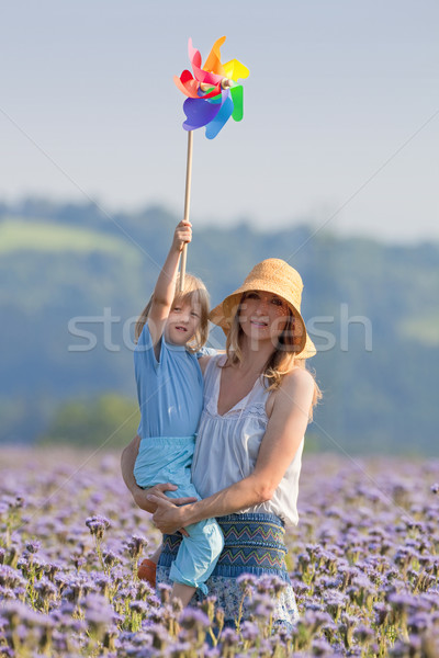 mother and son with pinwheel Stock photo © courtyardpix